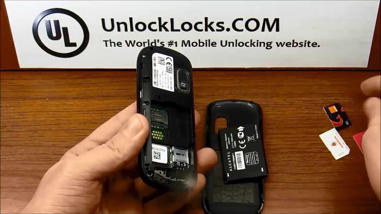 Unlock code Alcatel 1040X 1041A 1041D 1041X 1042D 1042X 1045D 1045G 1046D 1046G